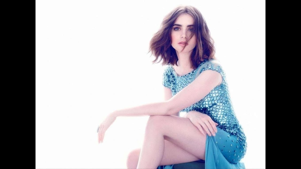 Lily Collins in a blue dress - Lily Collins Net Worth, Biography, Family, Movies, Boyfriends, Pictures&Wallpapers