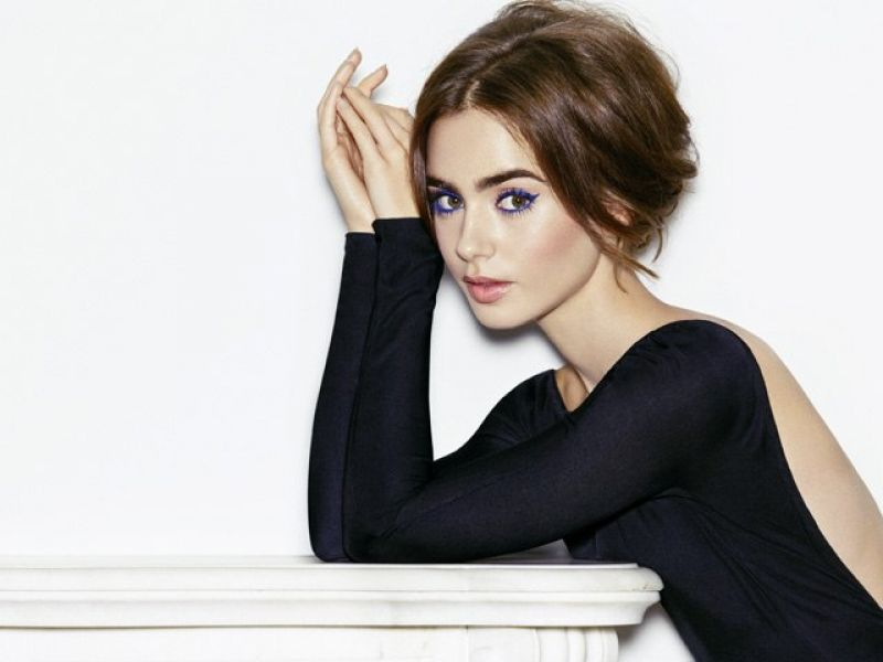 Lily Collins in a seductive black dress - Lily Collins Net Worth, Biography, Family, Movies, Boyfriends, Pictures&Wallpapers