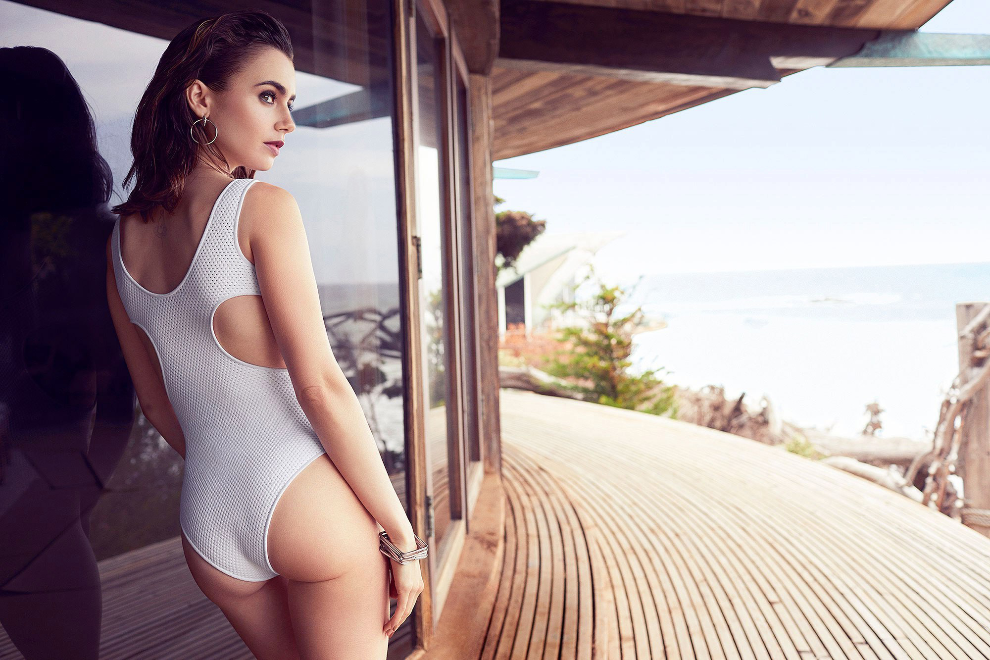 Lily Collins white bikini - Lily Collins Net Worth, Biography, Family, Movies, Boyfriends, Pictures&Wallpapers