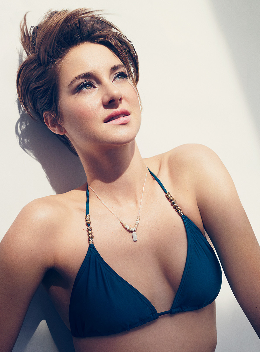 Shailene Woodley in a blue bikini - Shailene Woodley Net Worth, Movies, Family, Private Life, Pictures and Wallpapers