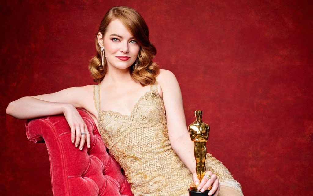 Emma Stone Oscar 1024x640 - Emma Stone Net Worth, Movies, Family, Boyfriends, Pictures and Wallpapers