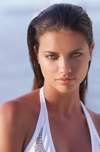 Adriana Lima Beach Photo