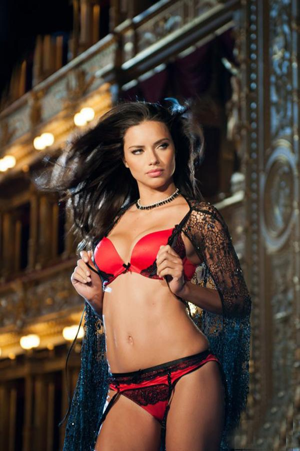 Adriana Lima Red Black Bra Photos - Adriana Lima Red Black Bra Photos