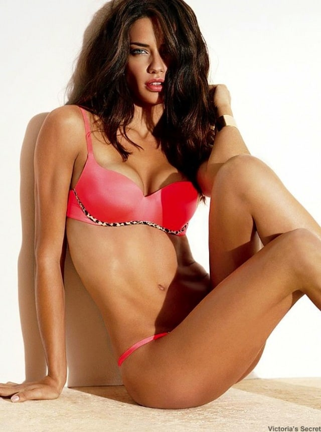 Adriana Lima Red Hot Bra - Adriana Lima Red Hot Bra