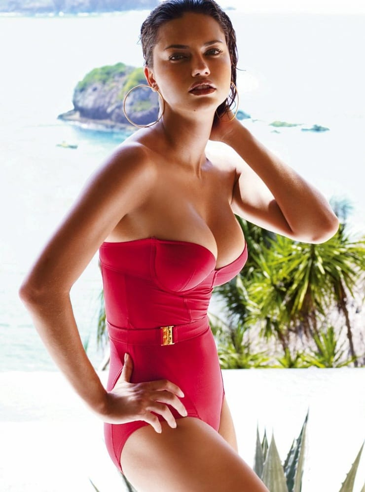 Adriana Lima Red Hot Swimsuit 1 - Adriana Lima Red Hot Swimsuit