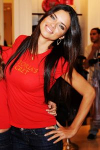Adriana Lima Red T shirt 1 200x300 - Adriana Lima White Dress Pic