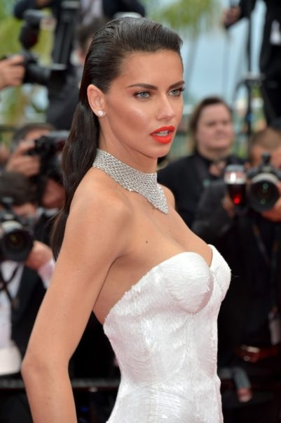 Adriana Lima White Dress