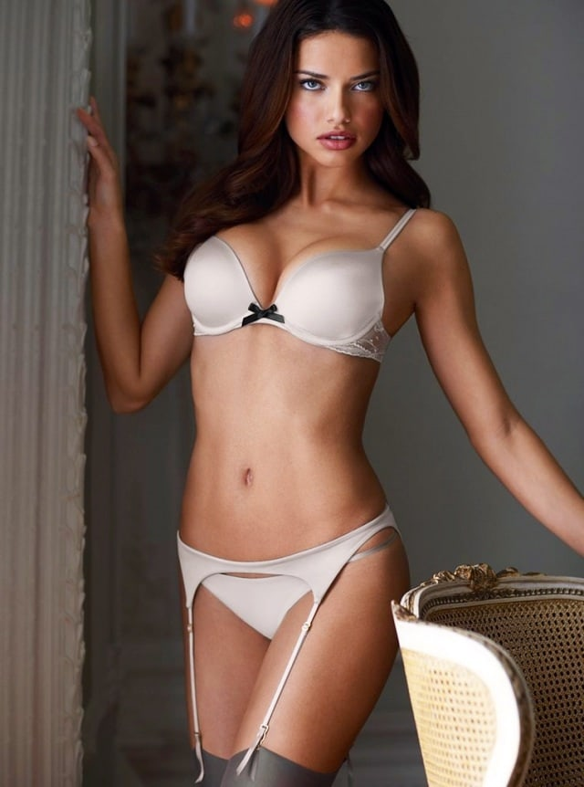 Adriana Lima White Lingerie Photos - Adriana Lima Net Worth, Pics, Wallpapers, Career and Biography