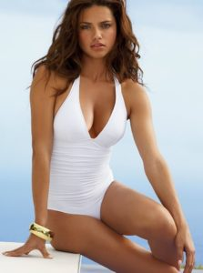 Adriana Lima White Swimsuit 1 223x300 - Adriana Lima Red T-shirt