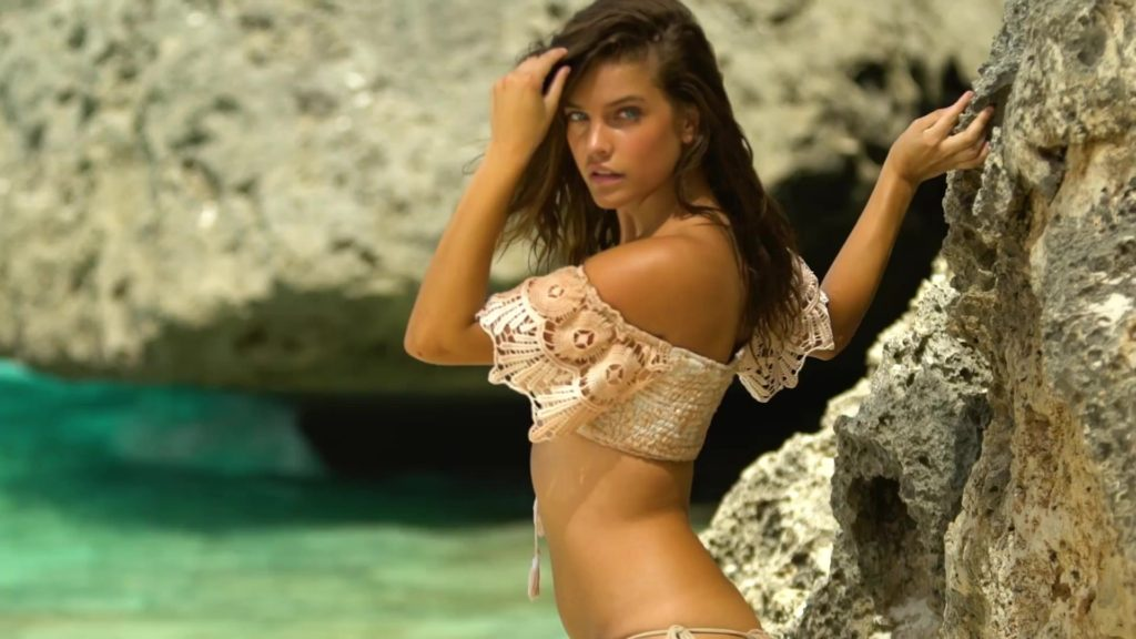 Barbara Palvin Hot Bikini Pose At The Beach 1024x576 - Barbara Palvin Net Worth, Pics, Wallpapers, Career and Biography