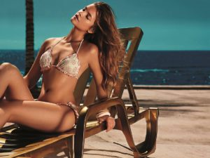 Barbara Palvin Hot Bikini Pose On The Beach 300x225 - Barbara Palvin Goddess Beauty