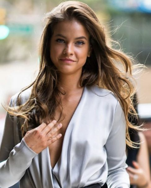 Barbara Palvin Revealing Dress Outside