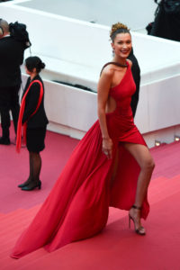Bella Hadid Red Dress On Red Carpet 200x300 - Bella Hadid On The Beach Pic