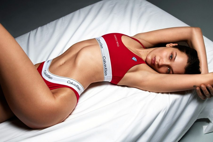 Bella Hadid Red Underwear