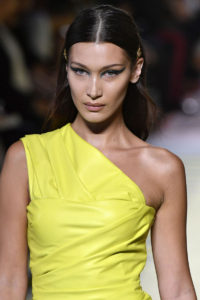 Bella Hadid Yellow Dress Modeling 200x300 - Bella Hadid Hot Model Outside