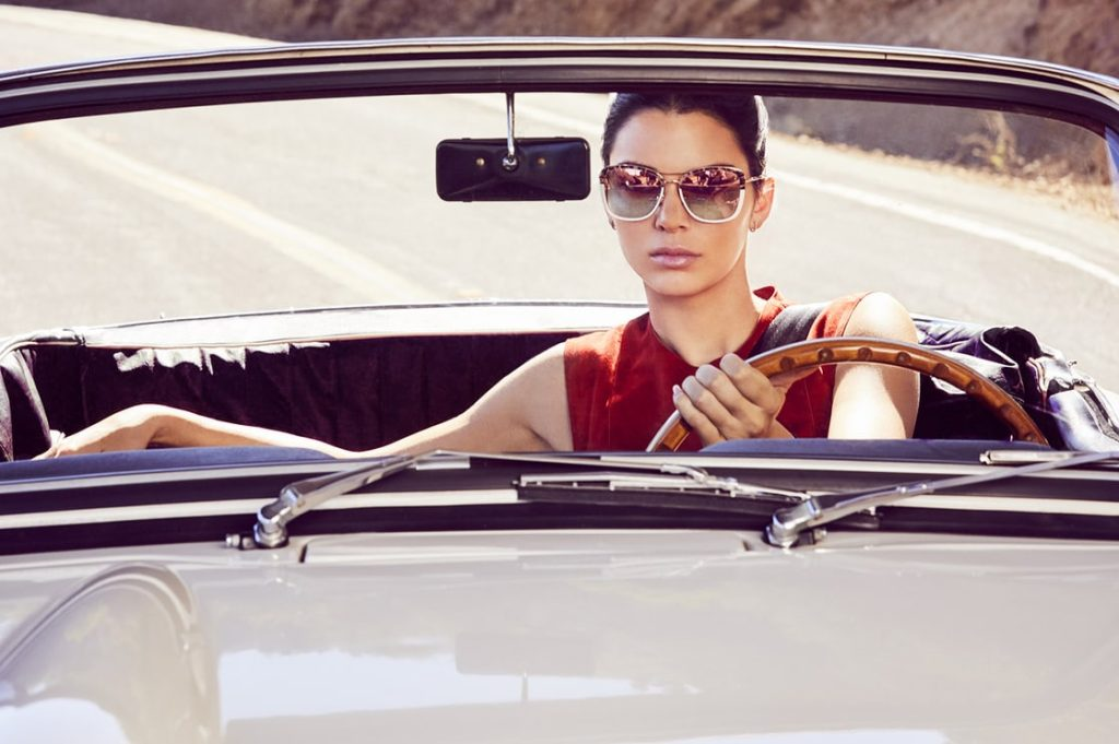 Cute Model Kendall Jenner Driving A Car 1024x681 - Cute Model Kendall Jenner Driving A Car