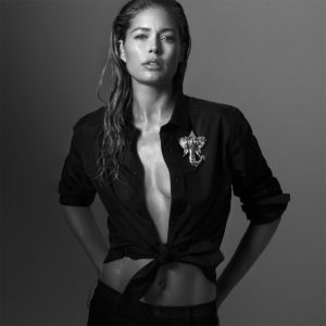 Doutzen Kroes Black Revealing Blouse 300x300 - Hot Blonde Doutzen Kroes Image