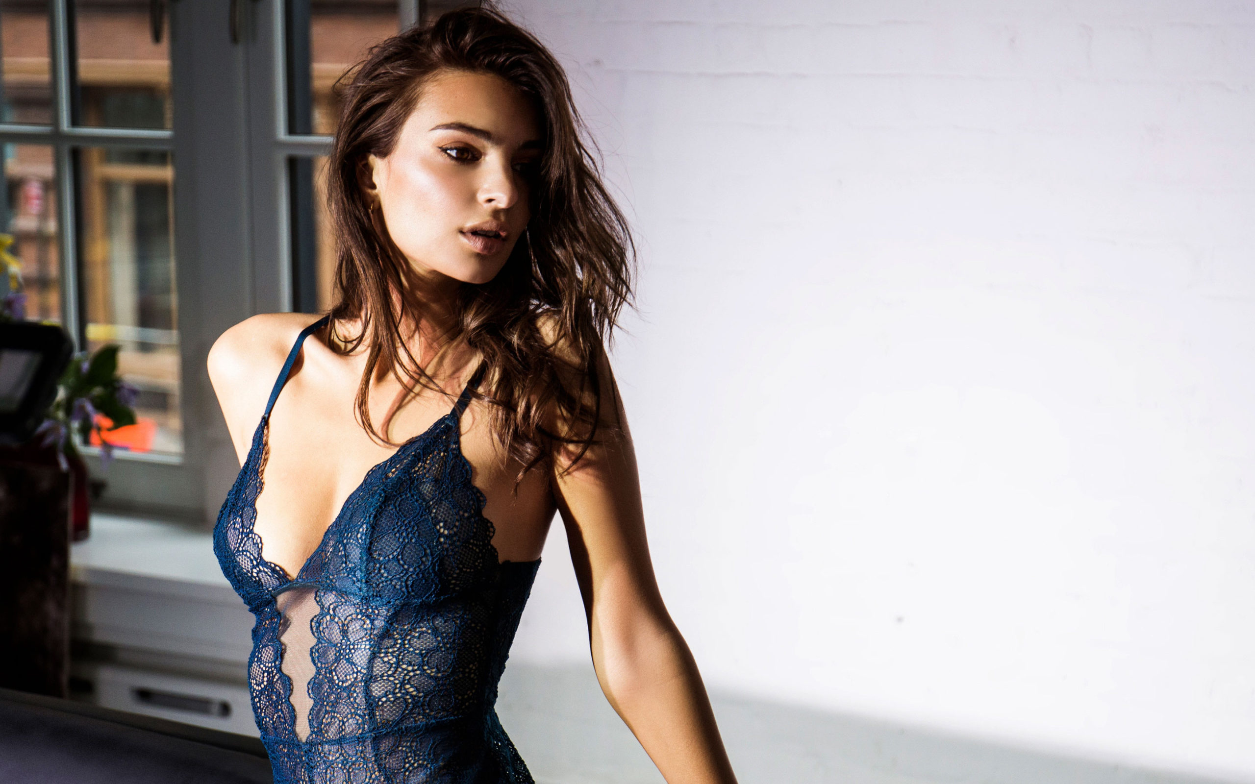 Emily Ratajkowski Hot Blue Underwear Pictures scaled - Emily Ratajkowski Net Worth, Pics, Wallpapers, Career and Biography