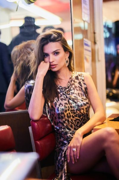 Emily Ratajkowski Leoparskin Hot Dress