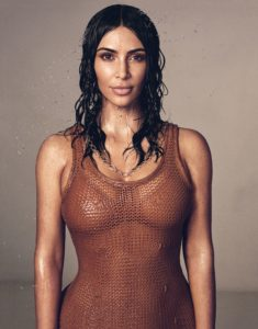 Hot Kim Kardashian 235x300 - Kim Kardashian Hot Golden Dress