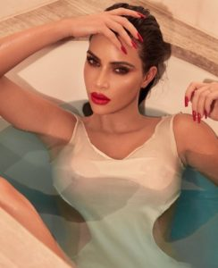 Hot Kim Kardashian Bath Pic 244x300 - Kim Kardashian Beautiful Face Posing