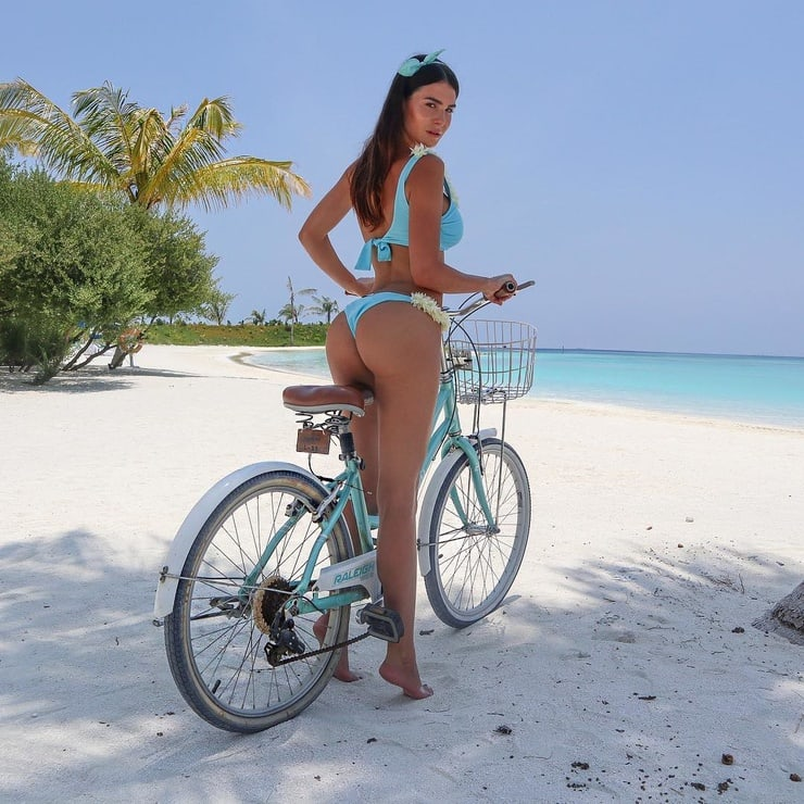 Hot Silvia Caruso On A Bike - Silvia Caruso Net Worth, Pics, Wallpapers, Career and Biography