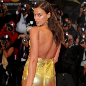 Irina Shayk Deep Back Revealing Dress 300x300 - Hot Top Model Irina Shayk
