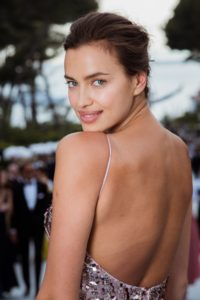 Irina Shayk Deep Back Revealing Dress Pics 200x300 - Irina Shayk Hot Yellow Bra