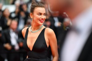 Irina Shayk Deep Revealing Black Dress Photo 300x200 - Irina Shayk Hot Black Underwear Pic