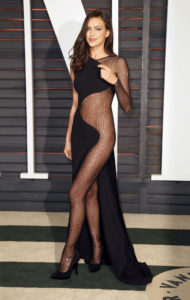 Irina Shayk Hot Black Night Dress 190x300 - Hot Top Model Irina Shayk