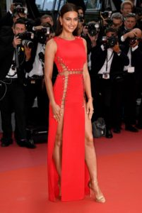 Irina Shayk Hot Red Dress On Red Carpet 201x300 - Hot Top Model Irina Shayk