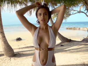 Irina Shayk Hot Revealing Bikini 300x225 - Irina Shayk Bikini Pose On Sands