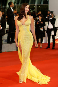 Irina Shayk Hot Yellow Dress On Red Carpet 200x300 - Irina Shayk Boat Modeling