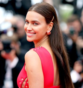 Irina Shayk Nice Red Dress 283x300 - Hot Top Model Irina Shayk
