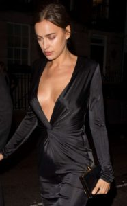 Irina Shayk Revealing Black Dress Image 186x300 - Irina Shayk Hot Black Underwear Pic