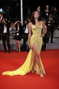 Irina Shayk Yellow Dress On Red Carpet 200x300 - Irina Shayk Hot Black Underwear Pic