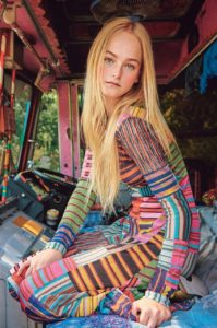 Jean Campbell Colorful Dress In A Van 199x300 - Jean Campbell Face Top Model