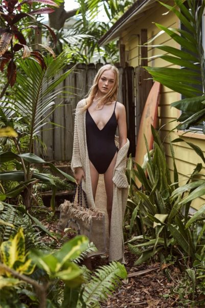 Jean Campbell Hot Black Swimsuit