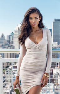 Kelly Gale Hot Revealing White Dress 192x300 - Kelly Gale Hot Podium Pic