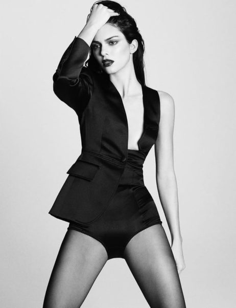 Kendall Jenner Black & White Photo