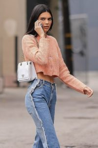 Kendall Jenner Jeans Pic 200x300 - Hot Model Kendall Jenner Orange Dress