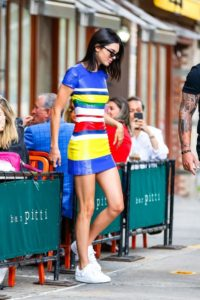 Kendall Jenner Nice Colorful Dress 200x300 - Kendall Jenner At The Seaside