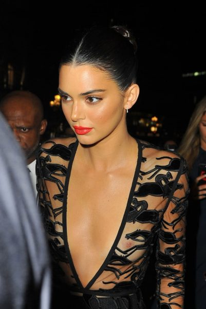 Kendall Jenner Red Lips