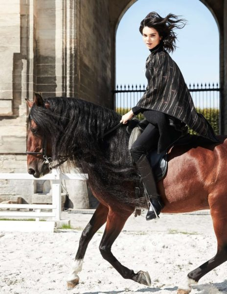 Kendall Jenner Riding Horse