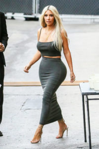 Kim Kardashian Outdoors Photo 200x300 - Kim Kardashian Hot Golden Dress