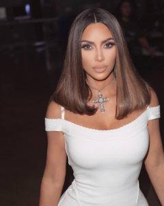 Kim Kardashian White Dress Pics 240x300 - Kim Kardashian Pure Beauty Photo