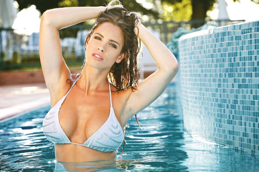 Lucia Javorcekova Hot Bikini Pool