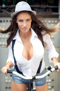 Lucia Javorcekova Hot Revealing Blouse On Bike 200x300 - Lucia Javorcekova Hot Pose İmage