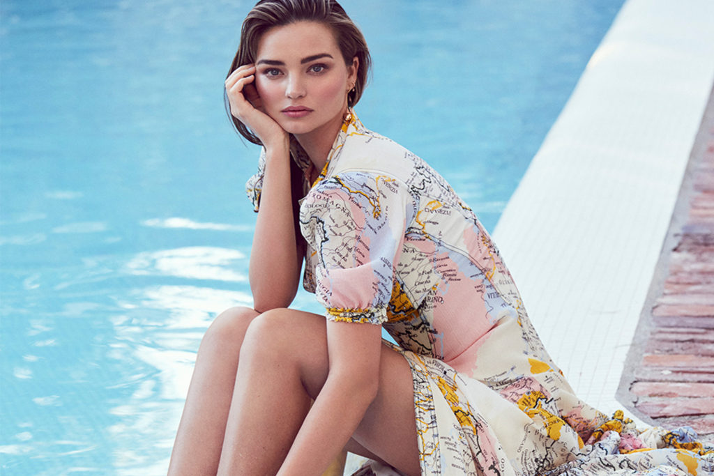 Miranda Kerr Nice Dress Near The Pool 1024x683 - Miranda Kerr Net Worth, Pics, Wallpapers, Career and Biography