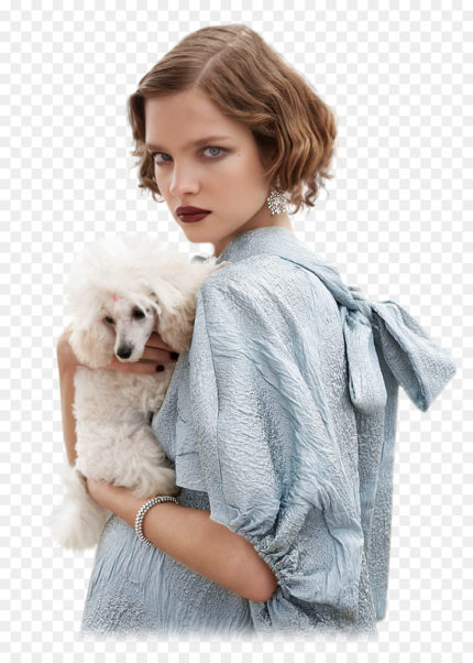 Natalia Vodianova Cool Posing With A Dog